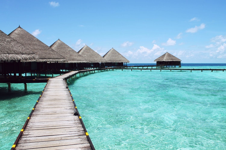 Maldives Over Water Huts
